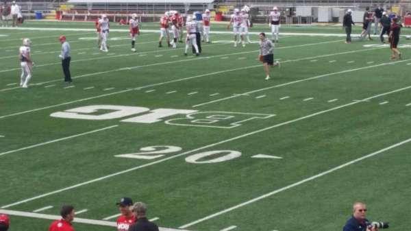 Camp Randall Stadium, vak: q, rij: 20, stoel: 14