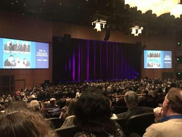 The Theater at MGM National Harbor, vak: 105, rij: P, stoel: 7