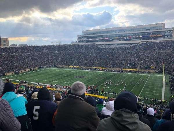 Notre Dame Stadium, vak: 107, rij: 25, stoel: 16