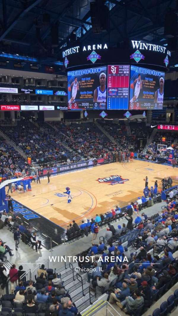 Wintrust Arena, vak: 228, rij: A, stoel: 6