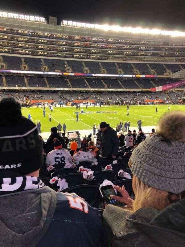 Soldier Field, vak: 140, rij: 18, stoel: 1