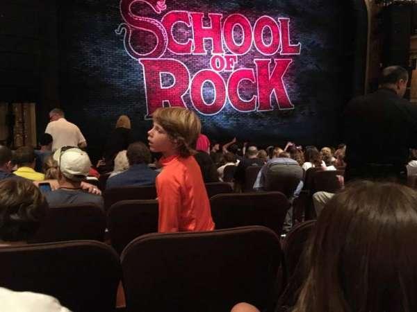 Winter Garden Theatre, vak: ORCH, rij: M, stoel: 5