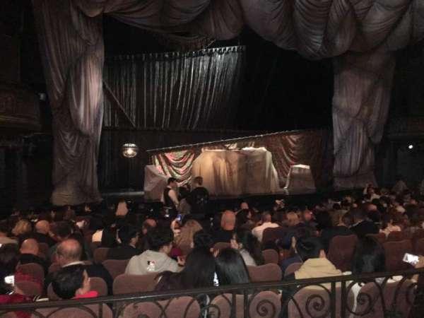 Majestic Theatre, vak: Orchestra Left, rij: K, stoel: 11