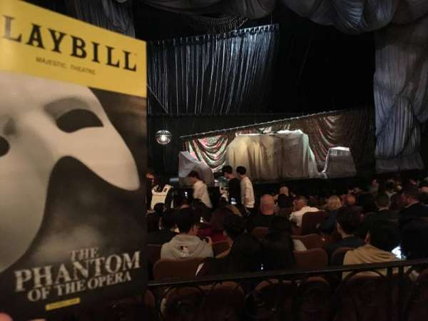 Majestic Theatre, vak: Orchestra Left, rij: K, stoel: 13