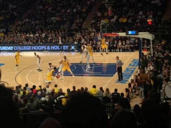 Madison Square Garden, vak: 119, rij: 15, stoel: 5