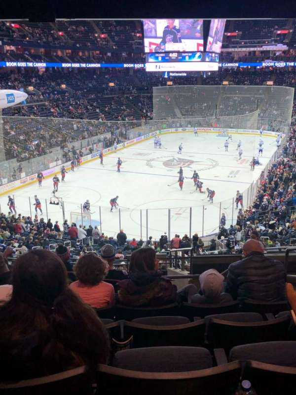 Nationwide Arena, vak: 119, rij: NN, stoel: 5
