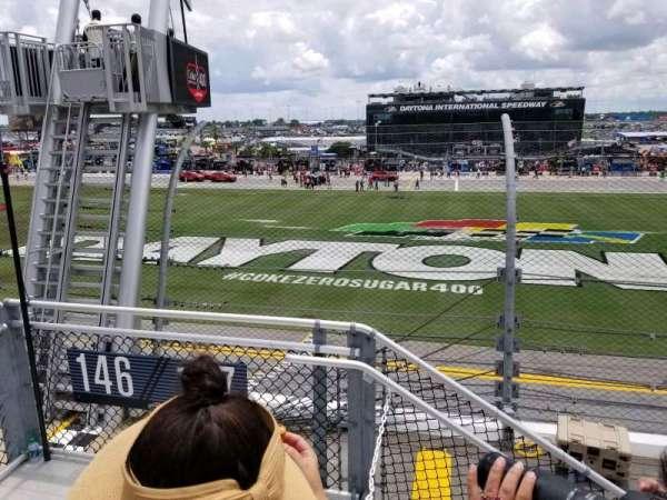 Daytona International Speedway, vak: 718, rij: 3, stoel: 22