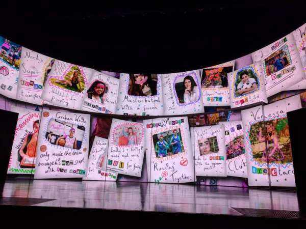 August Wilson Theatre, vak: ORCHC, rij: A, stoel: 104