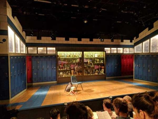 Shiva Theater at The Public Theater, rij: D, stoel: 14