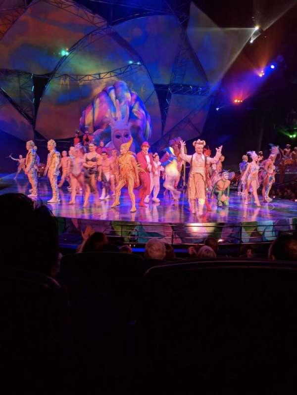 Mystère Theatre at Treasure Island, vak: 103, rij: E, stoel: 10