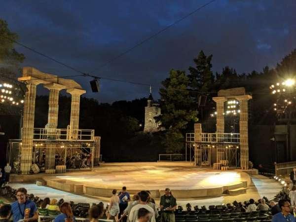 The Delacorte Theater in Central Park, vak: L, rij: L, stoel: 708
