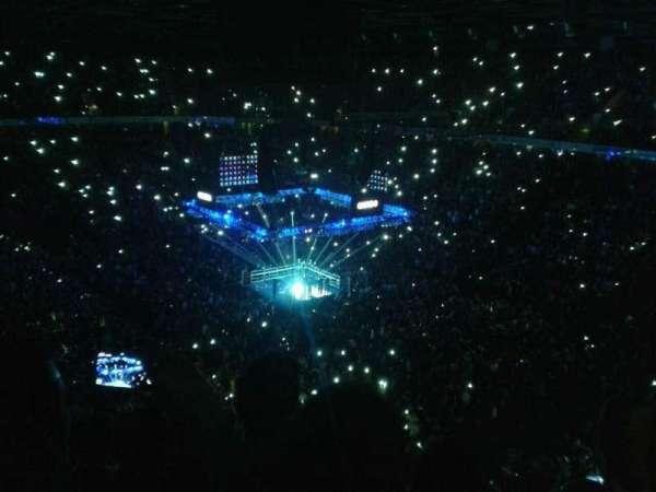 Manchester Arena, vak: 206, rij: k