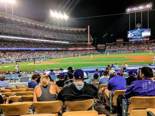 Dodger Stadium, vak: 16FD, rij: J, stoel: 8