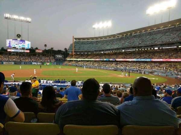 Dodger Stadium, vak: 19FD, rij: U, stoel: 4