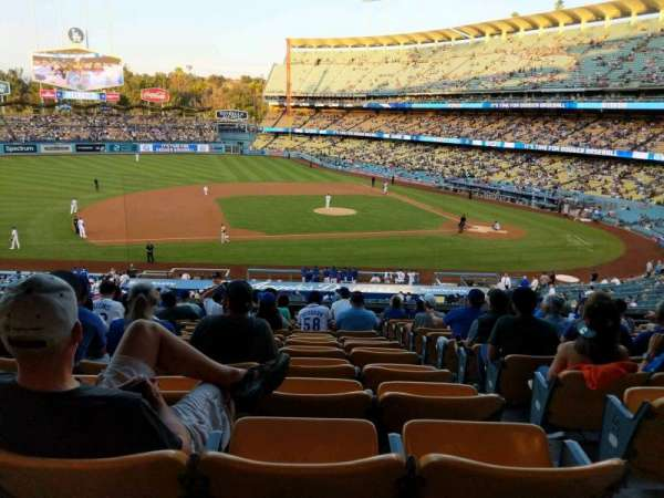 Dodger Stadium, vak: 133LG, rij: O, stoel: 2