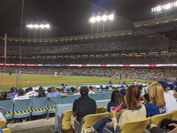 Dodger Stadium, vak: 27FD, rij: E, stoel: 1