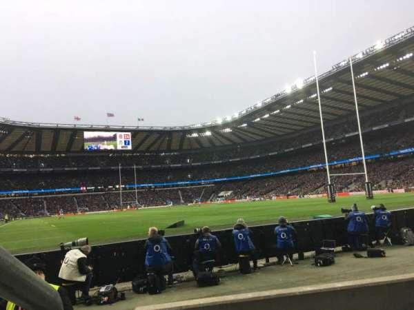 Twickenham Stadium, vak: L36, rij: 3, stoel: 246