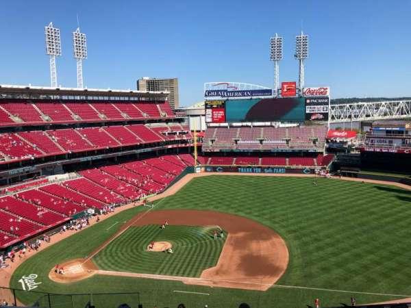 Great American Ball Park, vak: 531, rij: H, stoel: 14