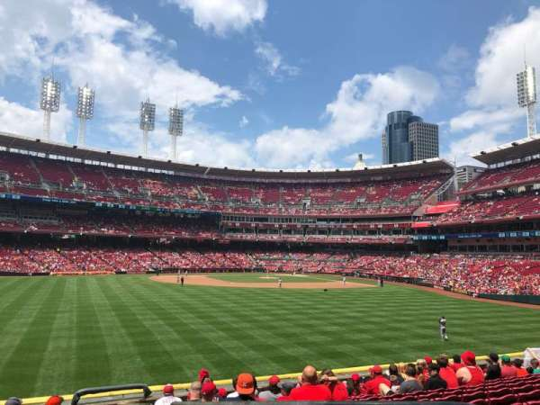 Great American Ball Park, vak: 102, stoel: 1