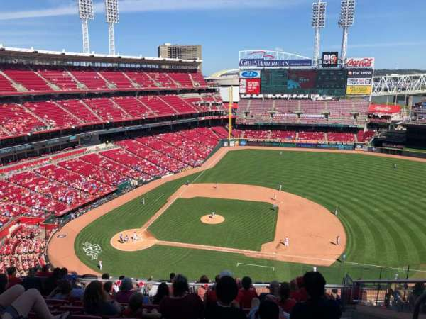 Great American Ball Park, vak: 530, rij: F, stoel: 8