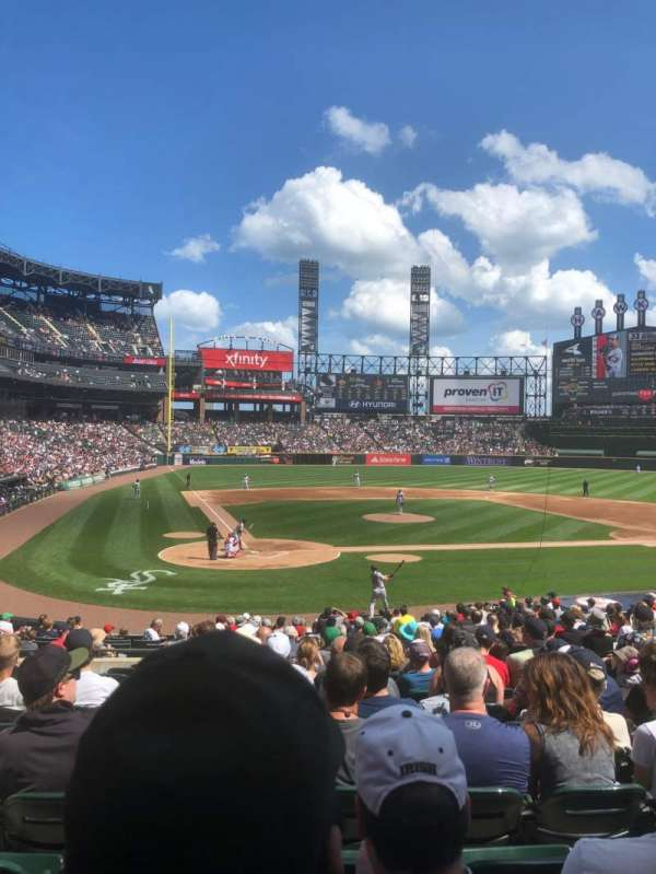 Guaranteed Rate Field, vak: 129, rij: 25, stoel: 7