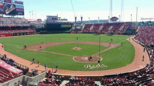 Great American Ball Park, vak: 222, rij: A, stoel: 6