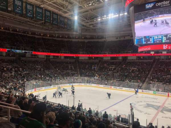 SAP Center at San Jose, vak: 101, rij: 20, stoel: 4