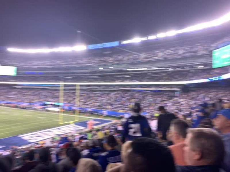 MetLife Stadium, vak: 104, rij: 38, stoel: 16