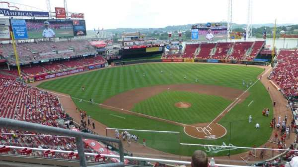 Great American Ball Park, vak: 422, rij: D, stoel: 15