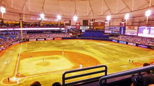 Tropicana Field, vak: 308, rij: C, stoel: 19