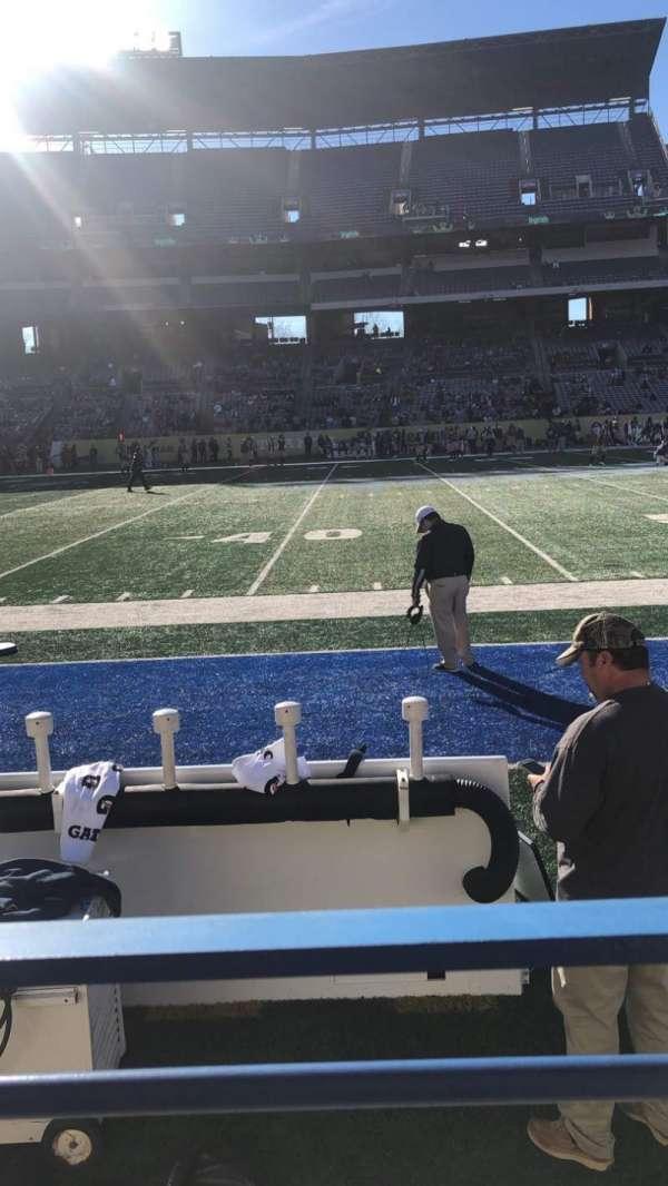 Georgia State Stadium, vak: 132, rij: 1, stoel: 1