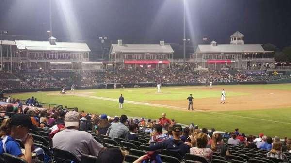 Dr Pepper Ballpark, vak: 123, rij: 23, stoel: 1