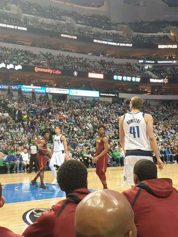American Airlines Center, vak: 120, rij: AA, stoel: 7