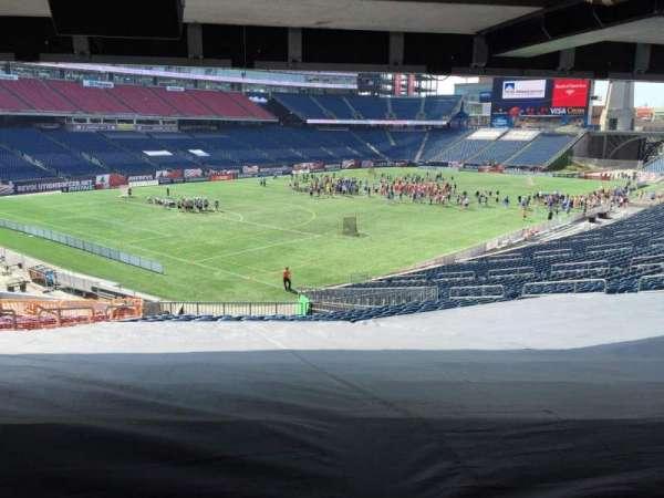 Gillette Stadium, vak: 116, rij: 38, stoel: 15