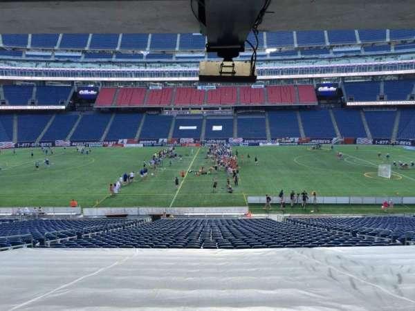Gillette Stadium, vak: 109, rij: 38, stoel: 12