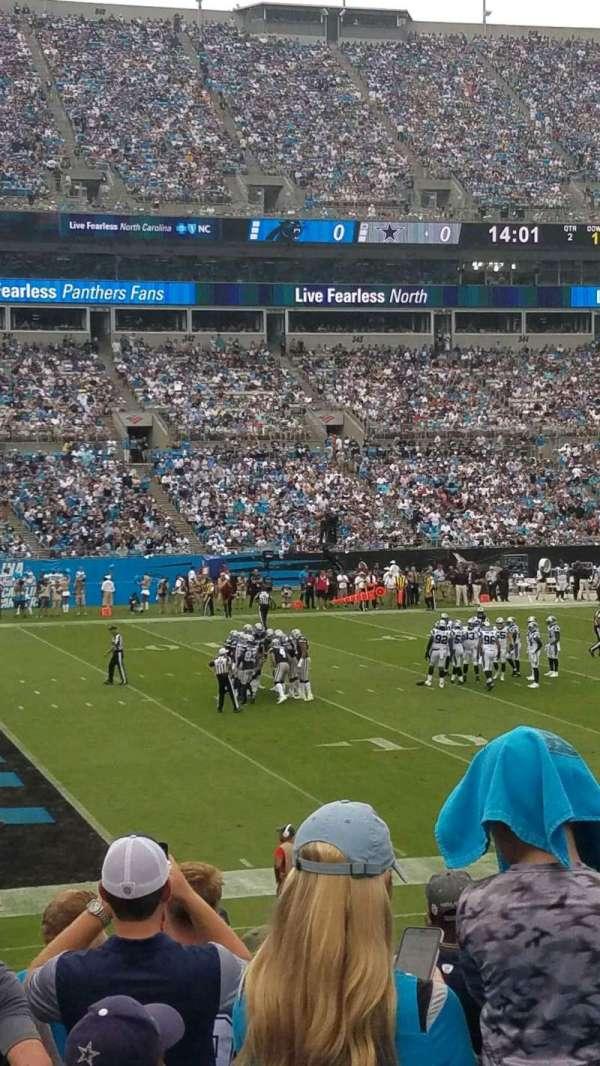 Bank of America Stadium, vak: 116, rij: 18, stoel: 14