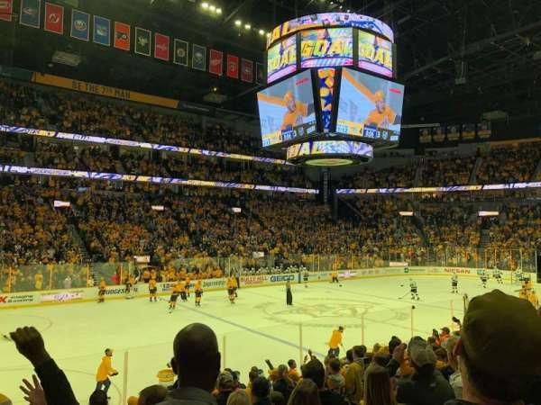 Bridgestone Arena, vak: 104, rij: A, stoel: 19