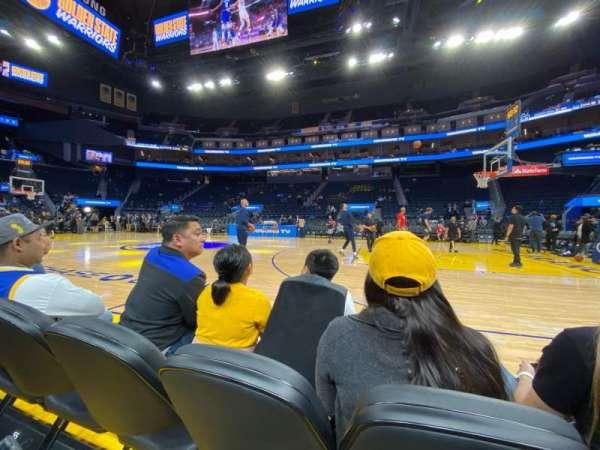 Chase Center, vak: Vip, rij: BB, stoel: 52