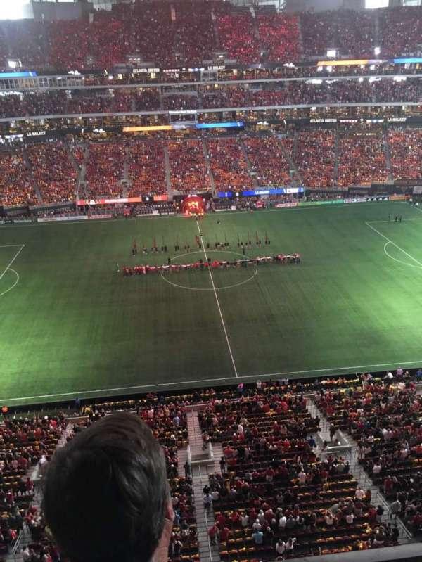 Mercedes-Benz Stadium, vak: 312, rij: 2, stoel: 12