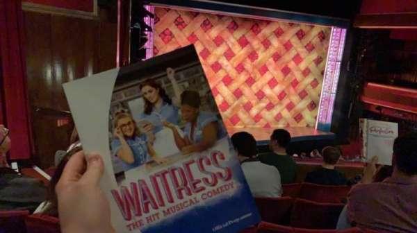 Adelphi Theatre, vak: Dress Circle, rij: E, stoel: 32