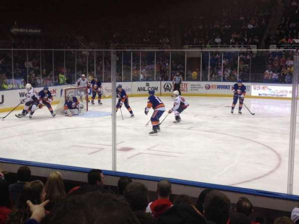 Old Nassau Veterans Memorial Coliseum, vak: 118, rij: F, stoel: 1