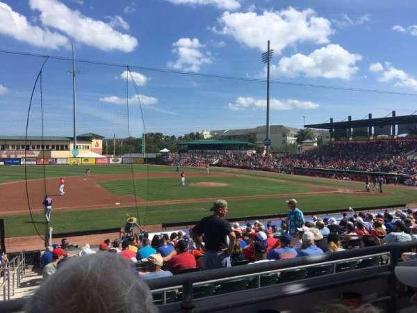 Roger Dean Chevrolet Stadium, vak: 212, rij: B, stoel: 9