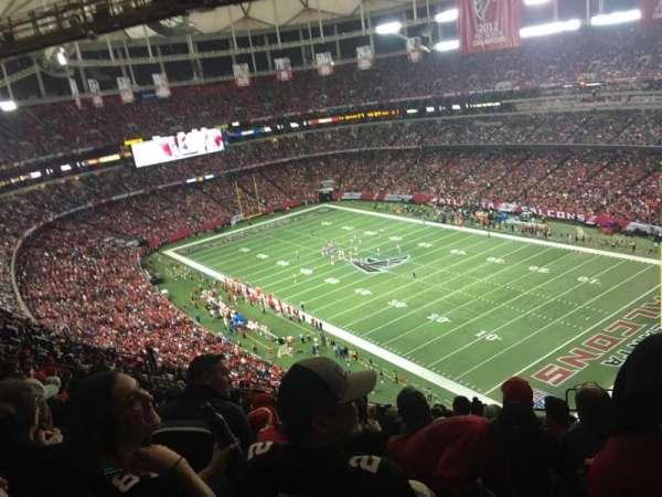 Georgia Dome, vak: 314, rij: 20, stoel: 21