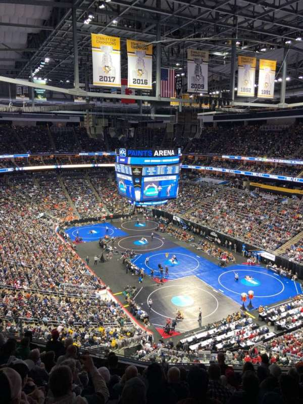 PPG Paints Arena, vak: 231, rij: J, stoel: 8