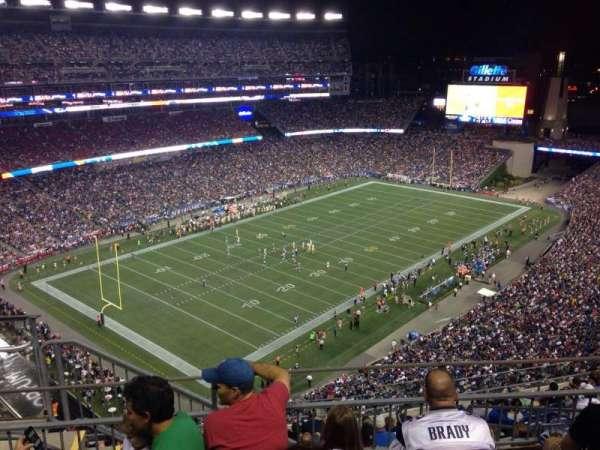 Gillette Stadium, vak: 316, rij: 4, stoel: 1