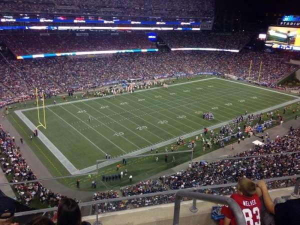 Gillette Stadium, vak: 315, rij: 14, stoel: 2