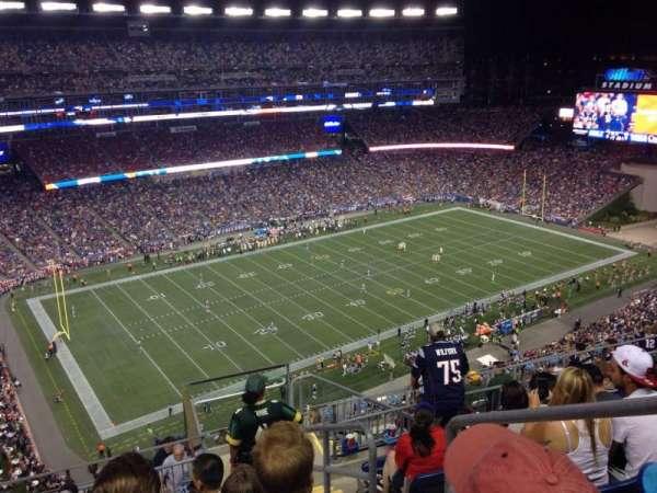 Gillette Stadium, vak: 314, rij: 12, stoel: 20