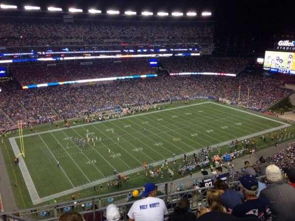 Gillette Stadium, vak: 313, rij: 7, stoel: 16
