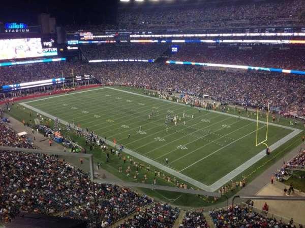 Gillette Stadium, vak: 301, rij: 5, stoel: 20