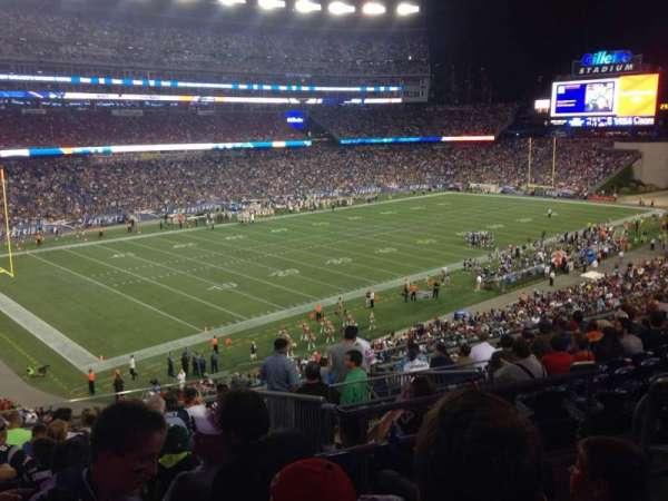 Gillette Stadium, vak: 215, rij: 3, stoel: 4